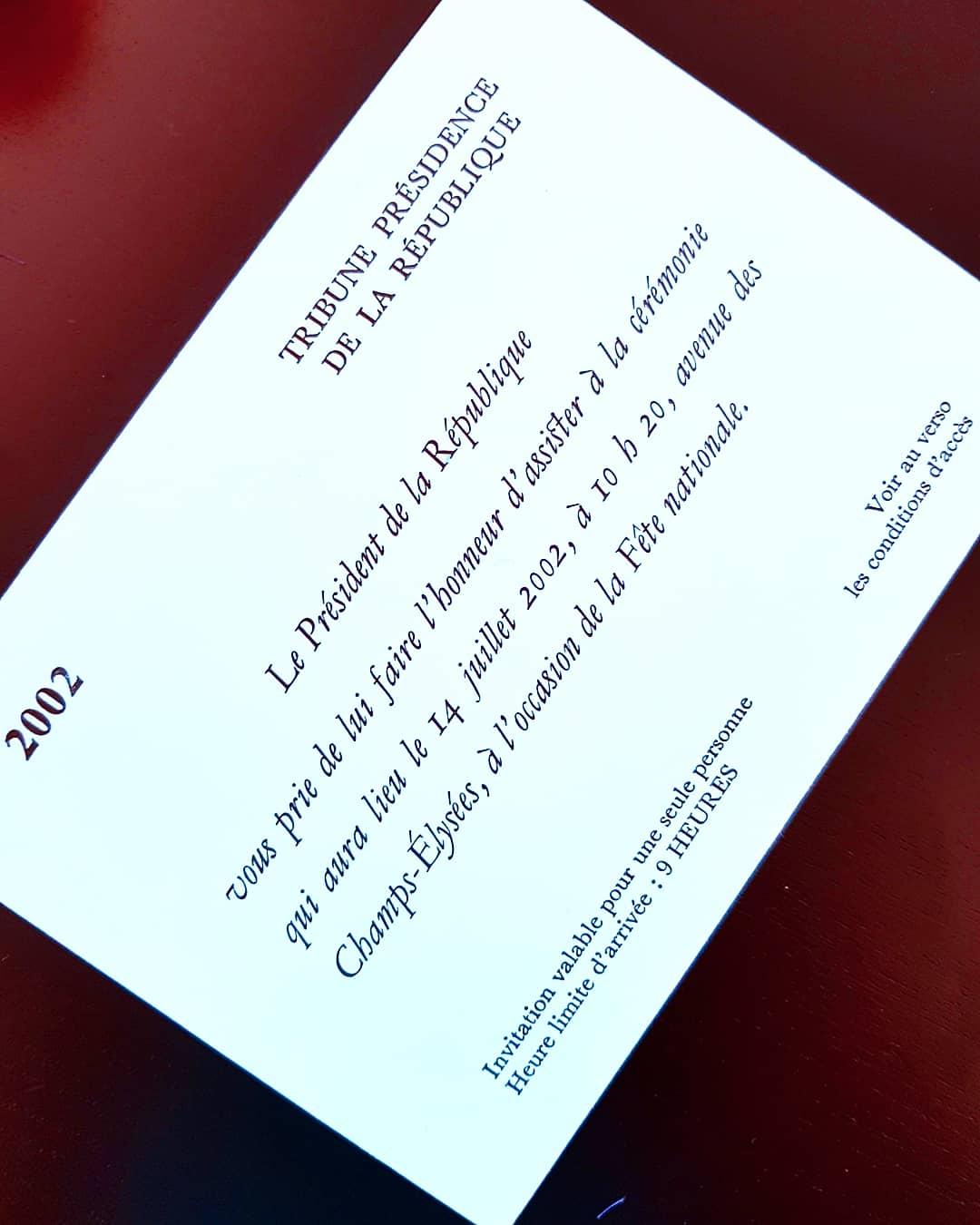 invitation - 14 juillet - elysee